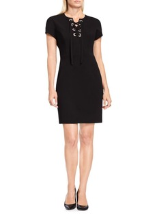 Vince Camuto Lace-front Sheath Dress