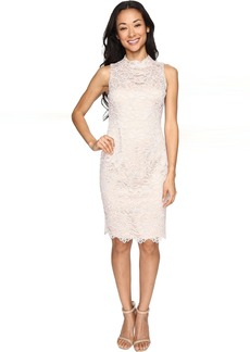 Vince Camuto Lace High Neck Bodycon Dress