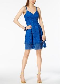 Vince Camuto Lace Illusion-Hem A-Line Dress