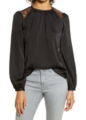 Vince Camuto Lace Inset Top