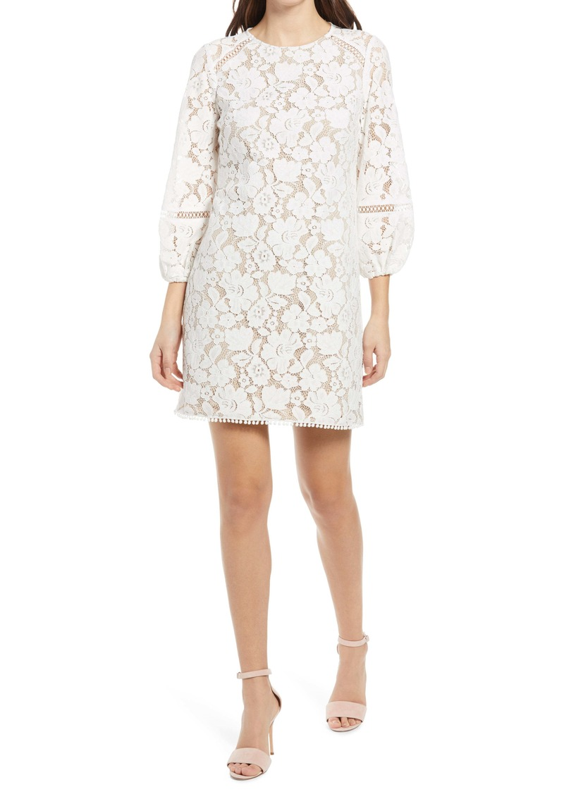 Vince Camuto Lace Long Sleeve Dress