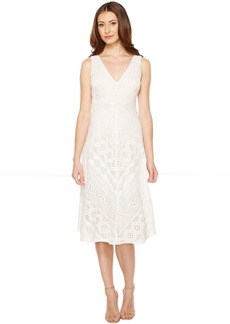 Vince Camuto Lace Open Back Midi Length Dress