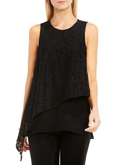 Vince Camuto Lace Overlay Top