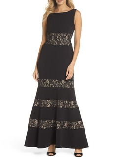 Vince Camuto Lace Panel Trumpet Gown (Regular & Petite)