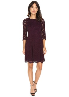 Vince Camuto Lace Raglan Lace Sleeve Fit and Flare