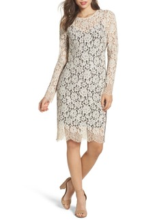 Vince Camuto Lace Sheath Dress (Regular & Petite)