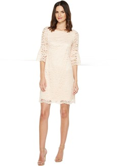 Vince Camuto Lace Shift Dress with Bell Sleeves
