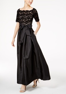 Vince Camuto Lace Taffeta Gown