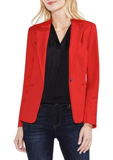 Vince Camuto Lace-Up Back Double Weave Blazer