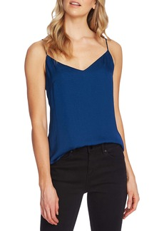 Vince Camuto Lace Up Back Rumpled Satin Camisole