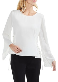 Vince Camuto Lace-Up Bell Sleeve Blouse