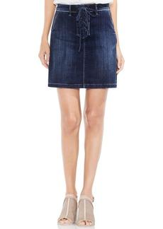 Vince Camuto Lace-Up Denim Mini Skirt (Mid Vintage)