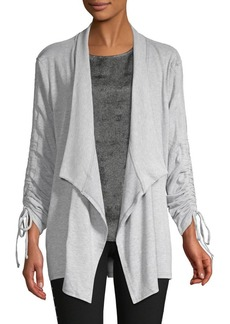 Vince Camuto Lace-Up Open-Front Cardigan