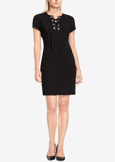 Vince Camuto Lace-Up Sheath Dress