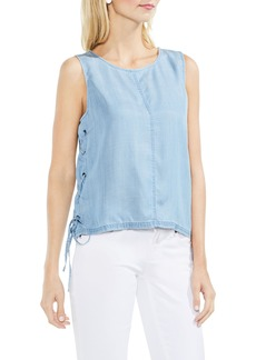 Vince Camuto Lace-Up Tencel® Top