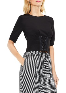 Vince Camuto Lace-Up Tie Front Blouse