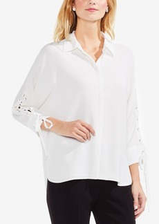 Vince Camuto Lace-Up Tie-Sleeve Shirt