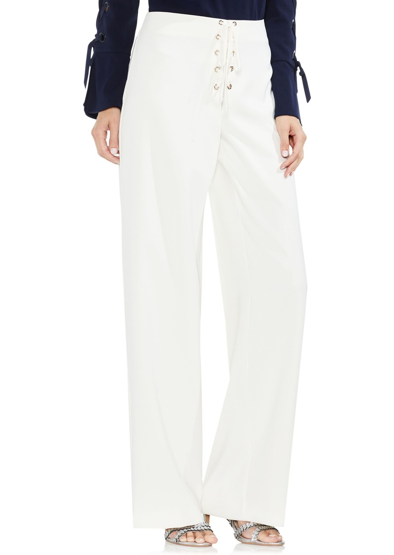 04185b86f3f Vince Camuto Vince Camuto Lace-Up Wide Leg Pants