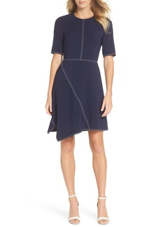 Vince Camuto Laguna Asymmetrical A-Line Dress (Regular & Petite)
