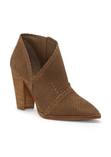 Vince Camuto Lamorna Perforated Pointy Toe Bootie (Women)