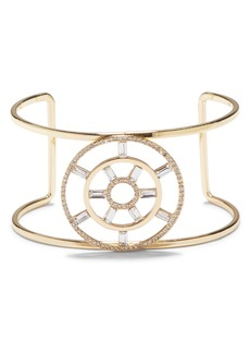 Vince Camuto Large T Circle Crystal Cuff