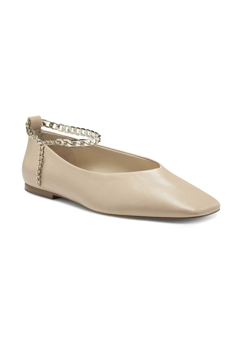 Vince Camuto Latenla Ankle Strap Ballet Flat (Women)