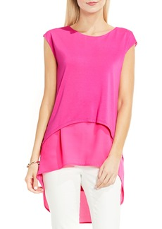 Vince Camuto Layered Look High/Low Top