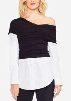 Vince Camuto Layered-Look One-Shoulder Top