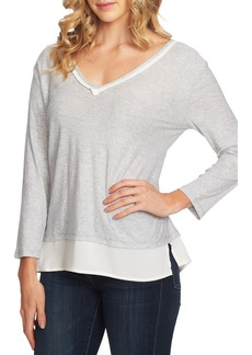 Vince Camuto Layered Look Top (Regular & Petite)