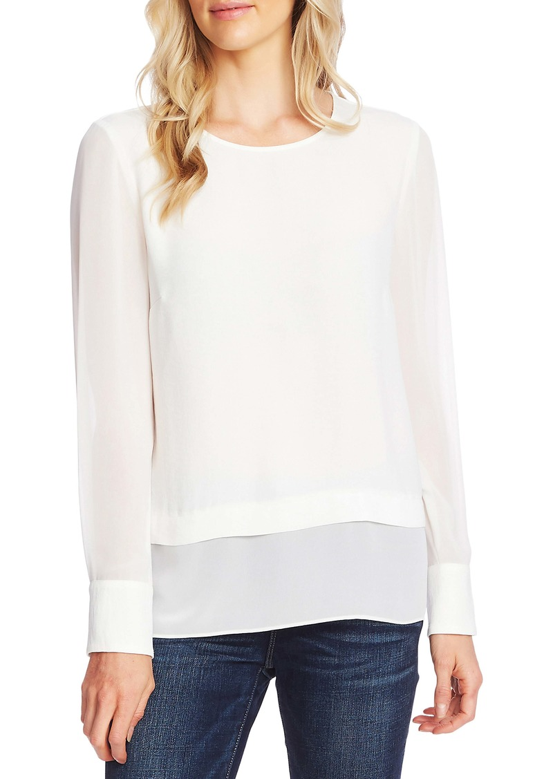 Vince Camuto Layered Rumple Georgette Top