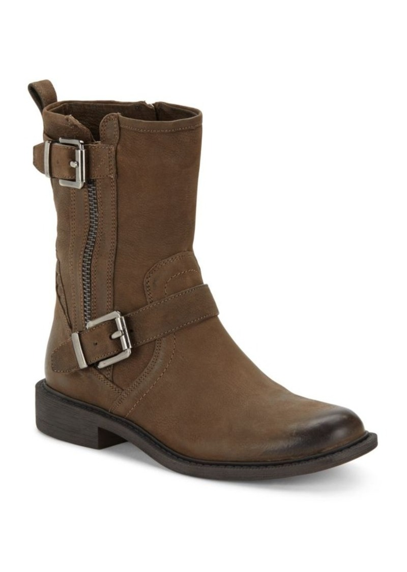 Vince Camuto Leather Side Zipper Ankle Boots