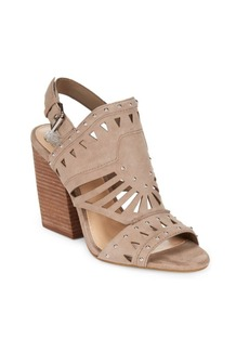 Vince Camuto Leather Stacked Blocked Sandals