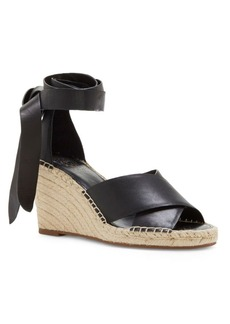 Vince Camuto Leddy Leather Espadrille Wedge Sandals