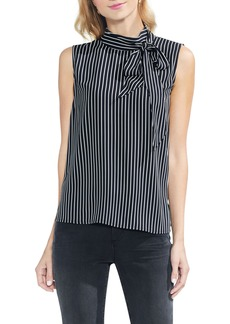 Vince Camuto Legacy Pinstripe Tie Neck Top