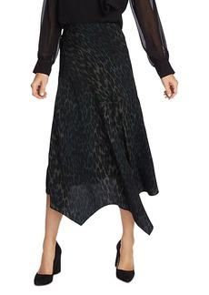 VINCE CAMUTO Leopard Handkerchief-Hem Skirt
