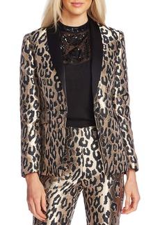 Vince Camuto Leopard Jacquard Blazer
