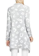 Vince Camuto Leopard Jacquard Sweater Jacket