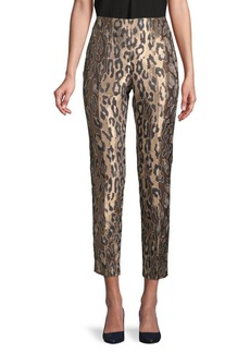 Vince Camuto Leopard-Print Cropped Pants