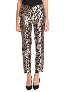 Vince Camuto Leopard-Print Jacquard Pants