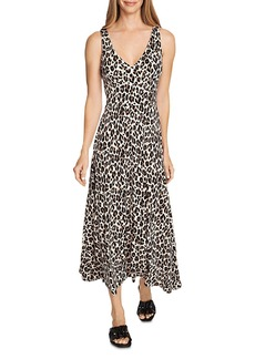 VINCE CAMUTO Leopard Print Midi Dress