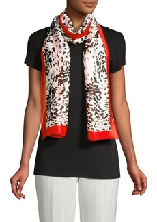 Vince Camuto Leopard-Print Scarf