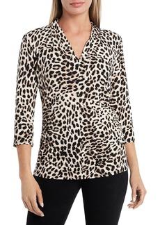 VINCE CAMUTO Leopard Print Top