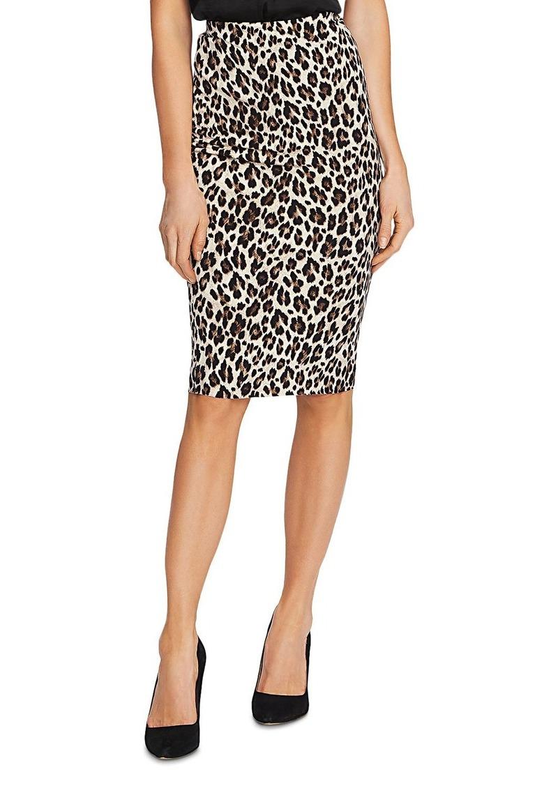 VINCE CAMUTO Leopard Print Tube Skirt