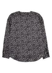 Vince Camuto Leopard Print Wrap Front Blouse