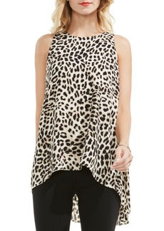 Vince Camuto Leopard Song High/Low Blouse (Regular & Petite)