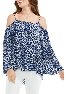Vince Camuto Leopard Song Off the Shoulder Top