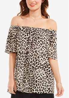 Vince Camuto Leopard Song Off-The-Shoulder Top