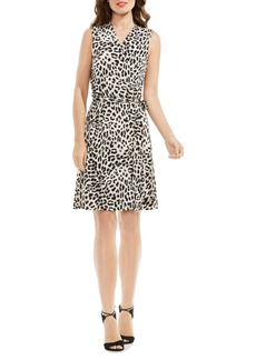 Vince Camuto Leopard Song Print Wrap Dress