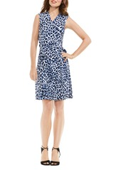 Vince Camuto Leopard Song Print Wrap Dress