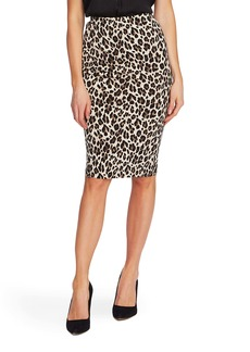 Vince Camuto Leopard Tube Skirt (Regular & Petite)